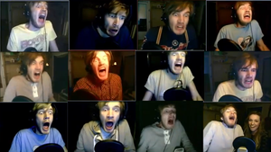 Many Faces of PewDiePie by restlesssFox