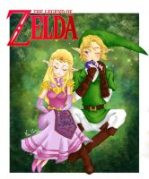 Ocarina of time- Link and Zelda by Faith92