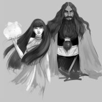 Character Design: Teres and Leorana by fee-absinthe