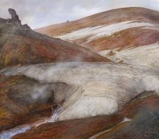 study in iceland landmannalaugar colors by andrekosslick