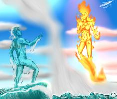 Fire and water by Jefra