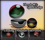 Zbrush 4R5 ~ Panels Speed Sculpt: Pokeball by Requiemsvoid