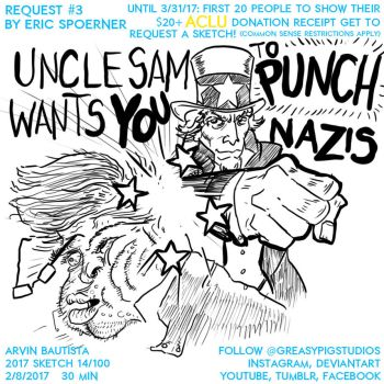 Arvin Bautista 2017 14/100: Uncle Sam Punching by greasypigstudios