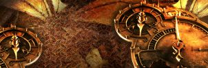 Steampunk dual monitor wallpap by brh4j1