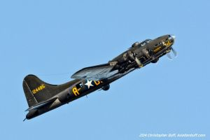 Memphis Belle Overhead Break by aviationbuff