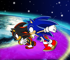 Sonic Vs. Shadow Color by ZeroR102