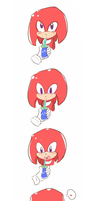 Sonic meets little Knuckles by deooART