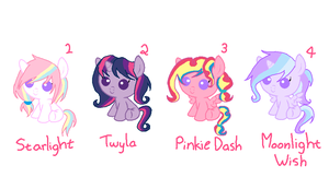 Custom Ponies~ by DerpyLuv123