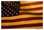 USA flag backlight at night by yellowcaseartist
