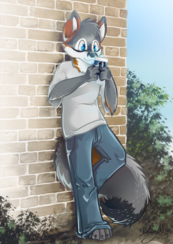 On the Phone by DawnAllies