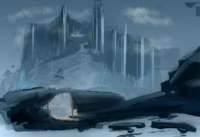 Icy Environment Speed Paint by mmarra12