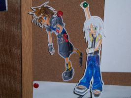 Sora and Riku - Hangin' by Necromancer1000