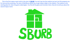 Page 3: SBURB first major event w/ writing (BR) by 2-DimensionalNerd