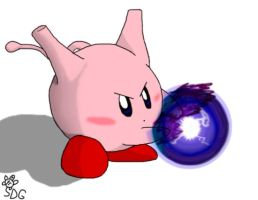 Mewtwo Kirby by somedumbgamer