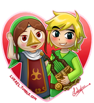 Valentines: Link and Medli by Lukael-Art