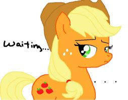 Applejack waiting by pegasister77890