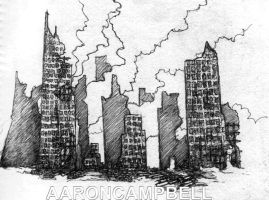 Ruined city by littleac