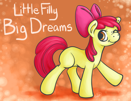 Little Filly Big Dreams by DerpyBloo