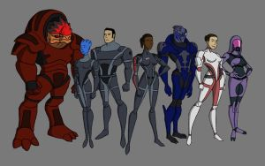 Mass Effect Cast - Animated by Sin-Vraal
