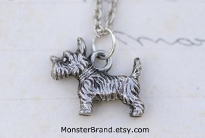 Scottish Terrier Necklace by MonsterBrandCrafts