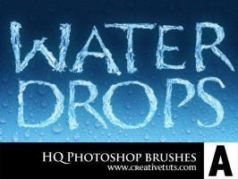 HQ Water Drops PS Brushes by Grasycho