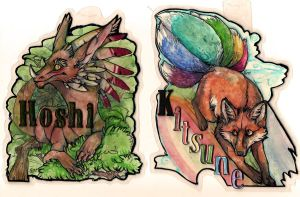 a couple moar badge commishes by Anarchpeace