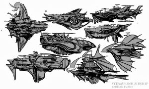 Ship Concepts by SavoryBaconist