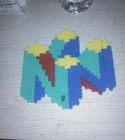 N64 perler bead by Shadowfan567