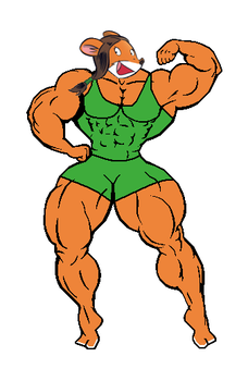 Muscular Lucy (tank top and shorts) (version 2) by Gabkat2007