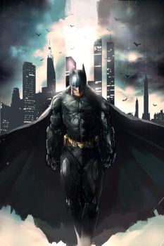 Batman-Dark Knight by longai