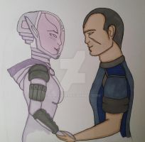 Tali and Shepard (Alternate) by DeepSixer