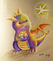 Spyro - Inspired by reidf by MissMachineArt
