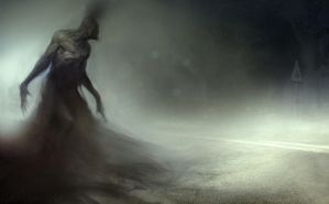 Thing in the road by Manzanedo