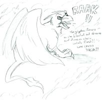 One Angry Gryphon by whitegryphon