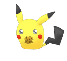 Pikachu nomming Cookie by eturtle999e