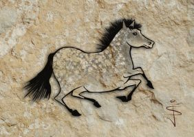 FIN-Cave-Horse-08-Speckled-Grey by NorthumbrianArtist