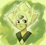 A green cat by Phoelion