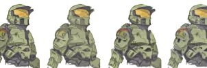Master Chief - Halo (Colored) by Iceey23