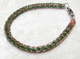 Viking Stripe Copper and Green by SarahTheSlightlyMad