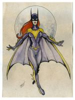 BATGIRL watercolor redesign by mdavidct