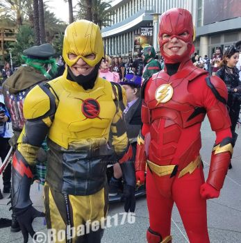 The Flash and The Reverse Flash by Bobafett176