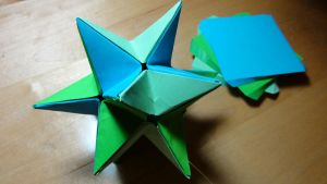 Cuboctahedral Star Origami by pecatrix