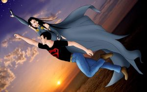 Superboy and Raven by MarcusMebes