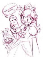 Peach and Daisy find some thin by rongs1234