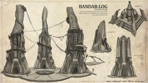 The Jungle Book - Bandar-Log Ruins Sketches by freakyfir