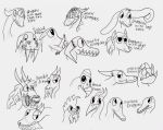 Variations of dargon heads by NightFury128