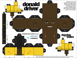 Donald Driver DWTS Cubee by etchings13