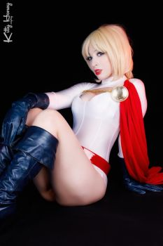 Power Girl cosplay by Kitty-Honey