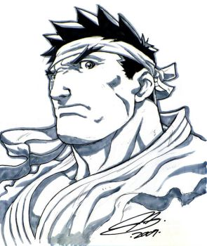 SDCC09- Ryu Head Sketch by UdonCrew