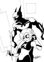 Batman and Hawt Girl Beyond by KidNotorious